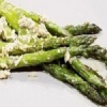 Asiago Parmesan Roasted Garlic Asparagus